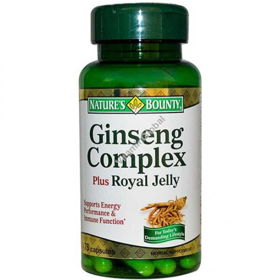 Ginseng Complex Plus Royal Jelly 75 caps - Nature\'s Bounty