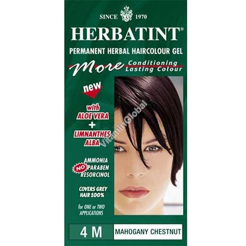 Permanent Haircolor Gel 4M Mahogany Chestnut - Herbatint
