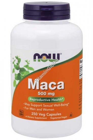 Maca 500mg 250 Veg Capsules - Now Foods