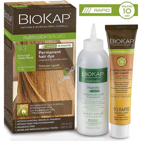 Permanent Hair Color, Extra Light Golden Blond 9.3 - BioKap