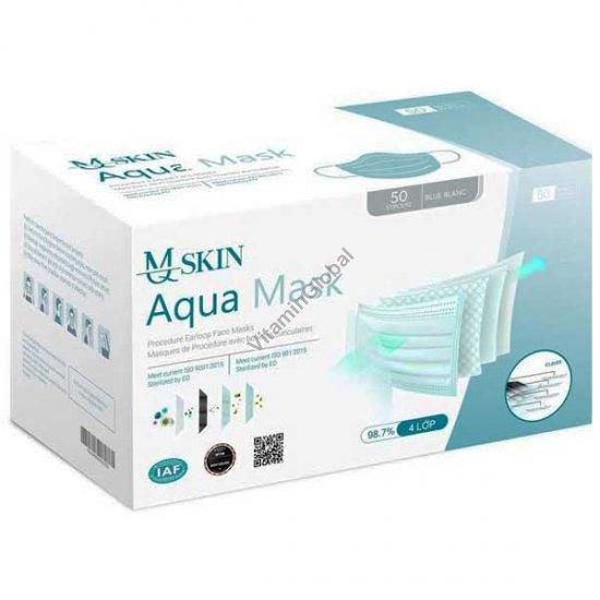 4 Layers, FDA-regulated, Procedure Medical Face Mask 50 pcs - MQSkin