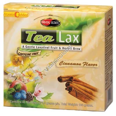Tea Lax Cinnamon Flavor 40 Tea Bags - Oriental Secrets