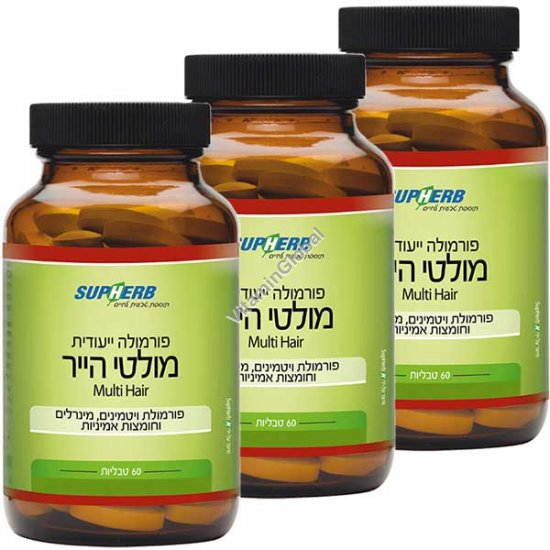 Multi Hair for prevention of hair loss 180 (60+60+60) tablets - SupHerb