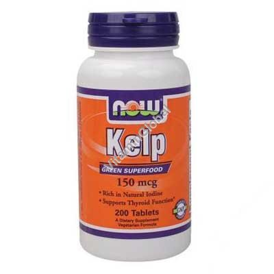 Kelp 150 mcg 200 tabs - NOW Foods