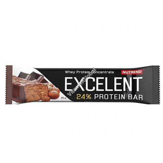 Excelent Protein Bar Chocolate Flavour with Nuts 85g - Nutrend