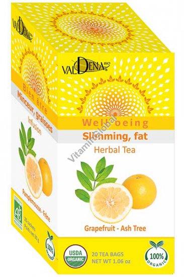Organic Grapefruit - Ash Tree Slimming Herbal Tea 20 tea bags - Valdena