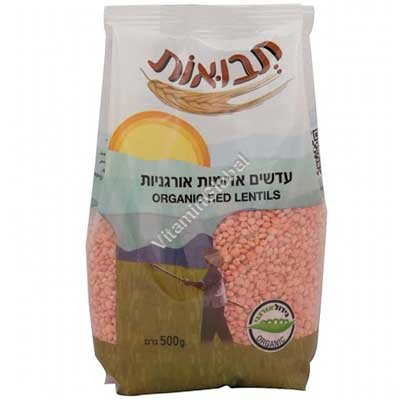 Organic Red Lentils 500g - Tvuot