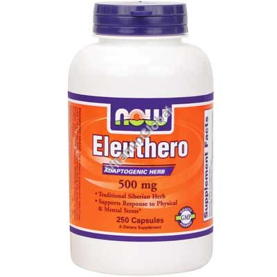 Eleuthero 500 mg 250 Veg Capsules - NOW Foods