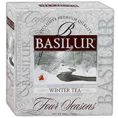 "Pure Ceylon Black Tea ""Winter Tea"" 100 tea bags - Basilur"