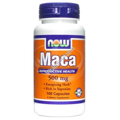 Maca 500mg 100 capsules - Now Foods