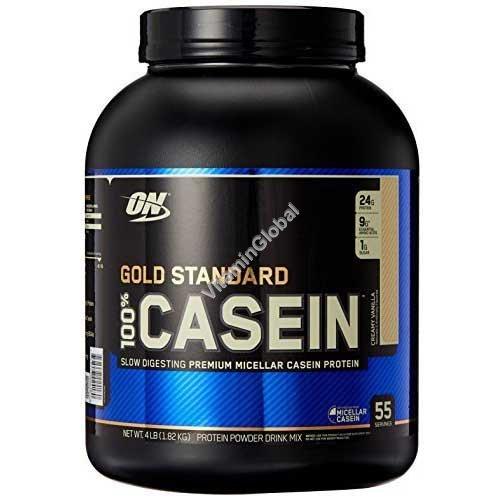 Gold Standard - 100% Casein Protein Creamy Vanilla 1.82kg - Optimum Nutrition