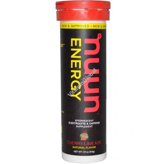 Effervescent Electrolyte & Caffeine Supplement, Cherry Limeade, 10 Tablets - Nuun Energy