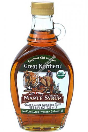 Pure Organic Maple Syrup 236ml - Great Northern