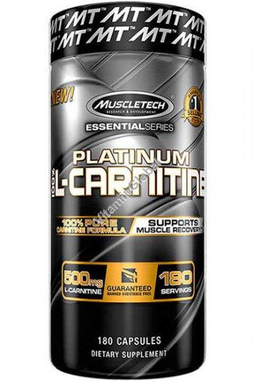 L-Carnitine Platinum 500mg 180 capsules - Muscletech