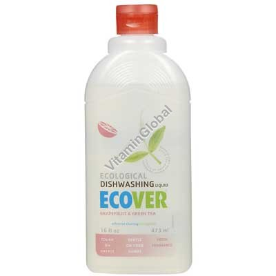 Ecological Dishwashing Liquid Grapefruit and Green Tea 1L - Ecover