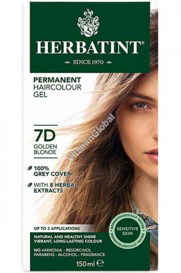 Permanent Haircolor Golden Blonde 7D - Herbatint