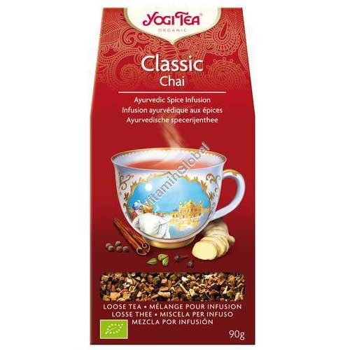 Organic Ayurvedic Infusion - Classic with cinnamon, cardamom, ginger 90g - Yogi Tea