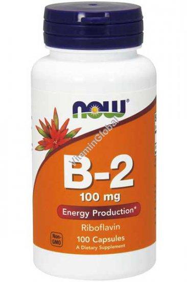 Vitamin B-2 100 mg Riboflavin 100 caps - NOW Foods