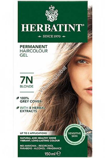 Permanent Haircolor Gel Blonde 7N - Herbatint