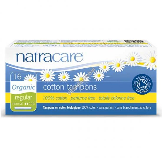 Organic Cotton Tampons with Applicator, Regular 16 Count - Natracare