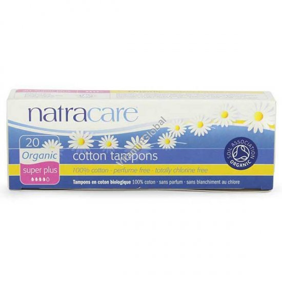Organic Cotton Tampons, Super Plus 20 Count - Natracare