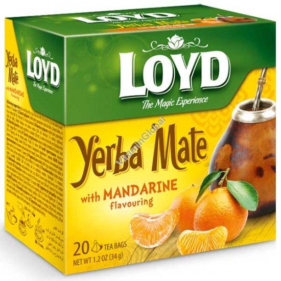 Yerba Mate with Mandarime Flavouring 20 pyramid tea bags - Loyd