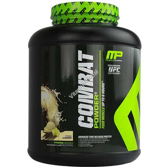 Combat Protein Powder Vanilla 1814 g (4 LBS) - Muscle Pharm