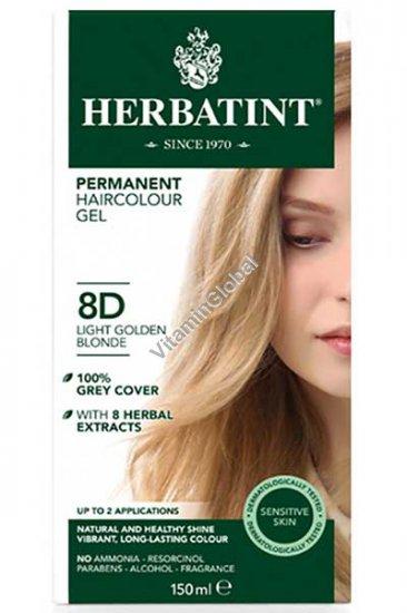 Permanent Haircolor Light Golden Blonde 8D - Herbatint