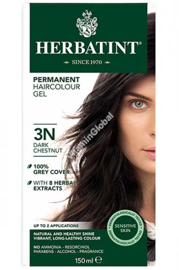 Permanent Haircolor Dark Chestnut 3N - Herbatint