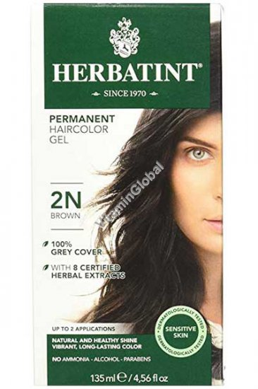 Permanent Herbal Hair Color Brown 2N - Herbatint