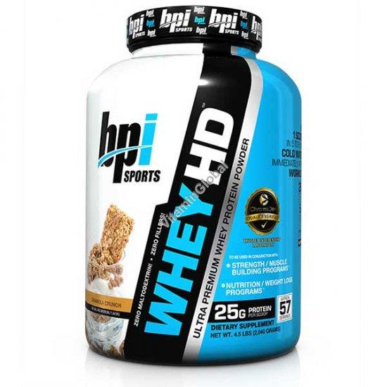 Ultra Premium Whey HD Protein Powder Granola Crunch 2.04 kg - bpi Sports