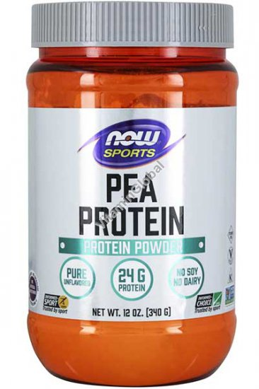 Pea Protein, Natural Unflavored 340g (12 OZ.) - Now Foods