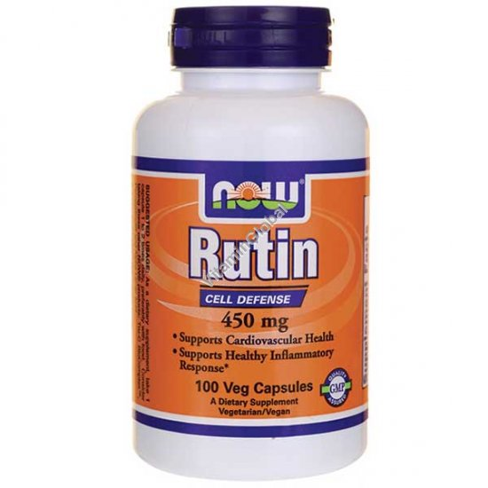 Rutin 450mg 100 Vcaps - NOW Foods