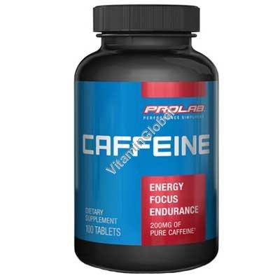 Caffeine 200mg 100 tabletss - Prolab Nutrition