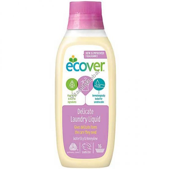 Ecological Delicate Laundry Liquid for Fine Fabrics and Wool 750ml - Ecover