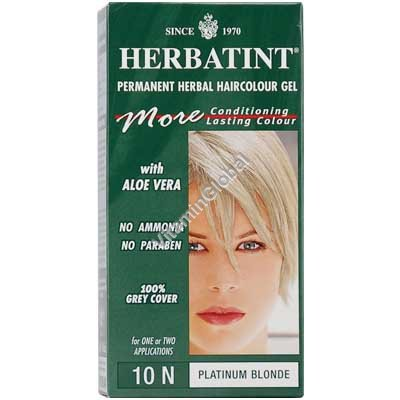Permanent Herbal Haircolour Gel Platinum Blonde 10N - Herbatint