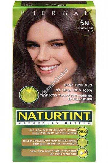 Permanent Hair Color 5N Light Chestnut Brown - Naturtint