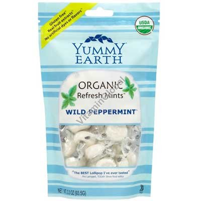 Organic Wild Peppermint Candy Drops 93.5g - Yummy Earth