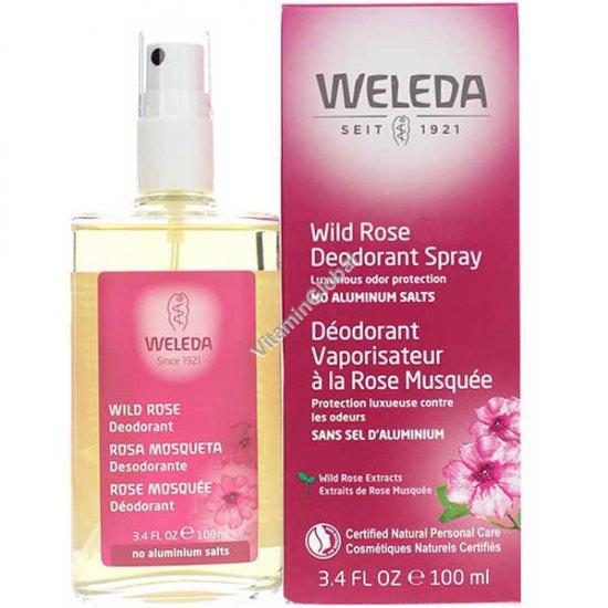 Wild Rose Deodorant Spray 100ml - Weleda