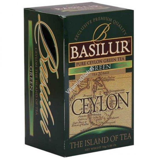 Pure Ceylon Green Tea 20 tea bags - Basilur