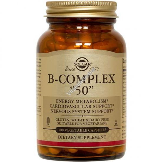 B-50 Complex 100 Vegetable Capsules - Solgar