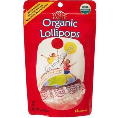 Organic Pops 85g (14 Lollipops) - Yummy Earth