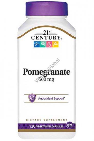 Pomegranate 500mg 120 Vegetarian Capsules - 21st Century