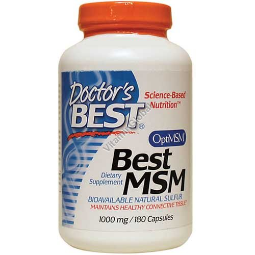 Best MSM 1000 mg 180 Capsules - Doctor\'s Best