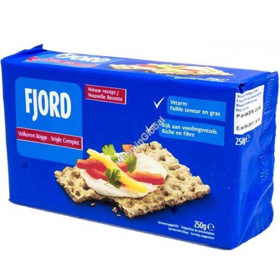 Natural Whole Rye Crispbread Crackers 250g - Fjord