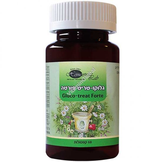 Gluco-Treat Forte for reducing blood sugar levels 60 capsules - Homeotreat Lab