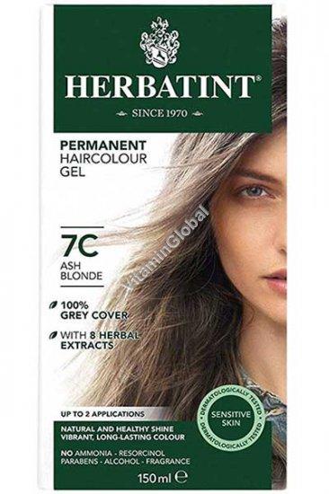 Permanent Haircolor Gel 7C Ash Blonde - Herbatint