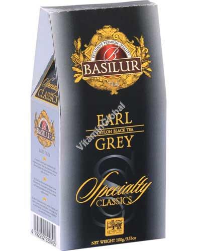 Ceylon Black Tea Earl Grey, Specialty Classics Collection 100g (3.53 oz) - Basilur