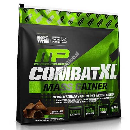 Combat XL Mass Gainer Chocolate Flavor 5.44kg - MusclePharm