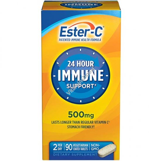 Ester-C 24 Hour Immune Support 500 mg 90 coated tablets - NatureSmart